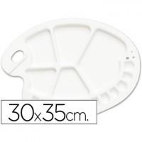 Paleta plastico lidercolor ovalada 17 huecos diestros tamaño 3x35cm.