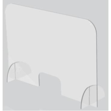 Pantalla Protectora Sobremesa Material Acrílico 75x85x50 cm