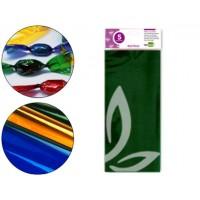 Papel celofan liderpapel 50x70 cm 22g/m2 bolsa de 5 hojas verde