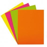 Papel color amarillo fluorescente paquete 100 din A4