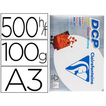 Papel fotocopiadora clairefontaine din a3 100 gramos paquete de 500 hojas.