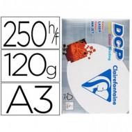 Papel fotocopiadora clairefontaine din a3 120 gramos paquete de 250 hojas.