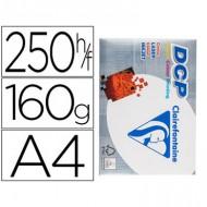 Papel fotocopiadora clairefontaine din a4 160 gramos paquete de 250 hojas.