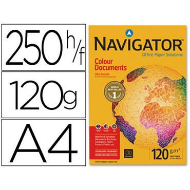 Papel fotocopiadora navigator din a4 120 gramos -paquete de 250 hojas.