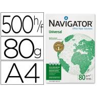 Papel fotocopiadora navigator din a4 80 gramos -paquete de 500 hojas. Caja de 5 unidades.