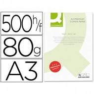 Papel fotocopiadora q-connect din a3 80 gramos,paquete de 500 hojas.