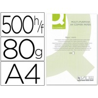 Papel fotocopiadora q-connect din a4 80 gramos -paquete de 500 hojas.