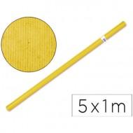 Papel kraft color amarillo - rollo 5x1 metros.