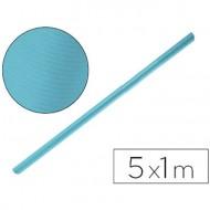 Papel kraft color azul turquesa - rollo 5x1 metros.