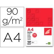 Papel liderpapel a4 90g/m2 paquete de 100 blanco