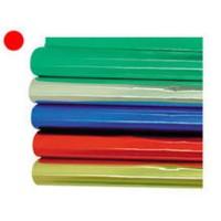 Papel metalizado rollo color rojo 1x3