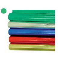 Papel metalizado rollo color verde 1x3
