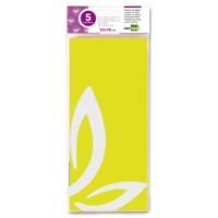 Papel seda liderpapel 52x76cm 18g/m2 bolsa de 5 hojas amarillo