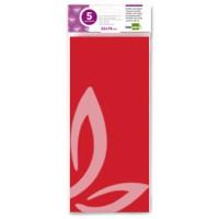 Papel seda liderpapel 52x76cm 18g/m2 bolsa de 5 hojas rojo