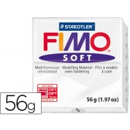 Pasta staedtler fimo soft 56 gr color blanco