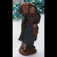 Pastora con cesto al hombro 9-12cm