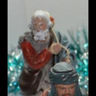 Pastor con canasto y cuerda al hombro 11cm