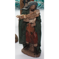 Pastor con rollo de paja en los brazos 9-12 cm