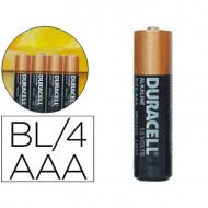 Pila duracell alcalina simply aaa blister con 4 pilas.