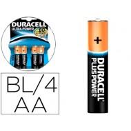 Pila duracell alcalina ultra power aa blister de 4 unidades