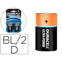 Pila duracell alcalina ultra power d blister de 2 unidades
