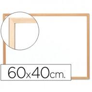 Pizarra blanca q-connect melamina marco de madera 60x40 cm.
