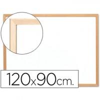 Pizarra blanca q-connect melamina marco de madera 120x90 cm.