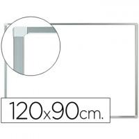 Pizarra blanca q-connect melamina marco de aluminio 120x90 cm.