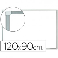 Pizarra blanca q-connect lacada magnetica marco de aluminio 120x90 cm.