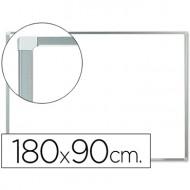 Pizarra blanca q-connect melamina marco de aluminio 180x90 cm.
