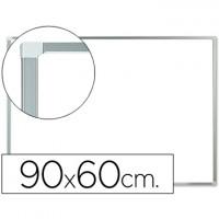 Pizarra blanca q-connect melamina marco de aluminio 90x60 cm.