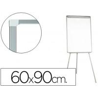 Pizarra blanca q-connect con tripode 60x90 cm para convenciones superficie laminada escritura directa