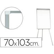 Pizarra blanca q-connect con tripode 70x103 cm para convenciones superficie lacadamagnetica escritura directa
