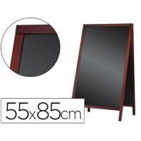 Pizarra negra liderpapel caballete doble cara de madera con superficie para rotuladores 55x85 cm