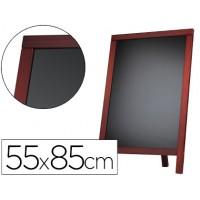 Pizarra negra liderpapel caballete y marco de madera con superficie para rotuladores tipo tiza 55x85cm