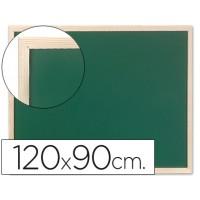 Pizarra verde q-connect marco de madera 120x90 cm sin repisa