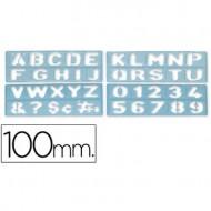 Plantilla rotulacion 1800 -letras y numeros de 100 mm.