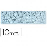 Plantilla rotulacion 1575 -letras y numeros de 10 mm.