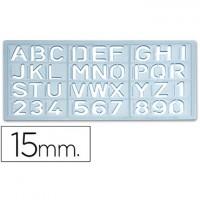 Plantilla rotulacion 1585 -letras y numeros de 15 mm.