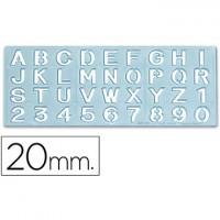 Plantilla rotulacion 1595 -letras y numeros de 20 mm.