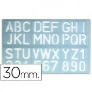 Plantilla rotulacion 1600 -letras y numeros de 30 mm.