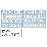 Plantilla rotulacion 1700 -letras y numeros de 50 mm.