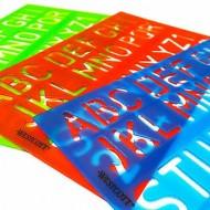 Plantilla Letras y Números Colores Surtidos