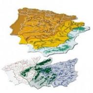 Plantilla plastico mapa españa -bolsa de 3 15x12,5 cm.