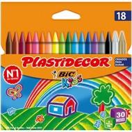 Lapices cera plastidecor caja de 18 colores