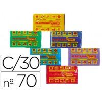 Plastilina jovi 70 surtida 50 gramos caja de 30 unidades