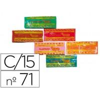 Plastilina jovi 71 surtida caja de 15 unidades de 150 gramos