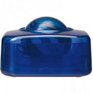 Portaclips q-connect con bola dispensadora giratoria plastico azul.