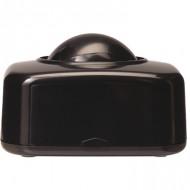 Portaclips q-connect con bola dispensadora giratoria plastico negro.
