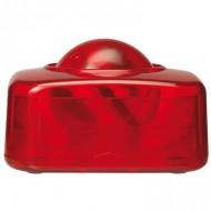 Portaclips q-connect con bola dispensadora giratoria plastico rojo.